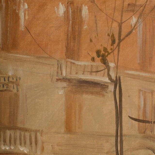 "1940s ""Market in Milan"" Street Scene Oil Painting by Joshua Felise Ziro Brevio For Sale - Image 12 of 13"
