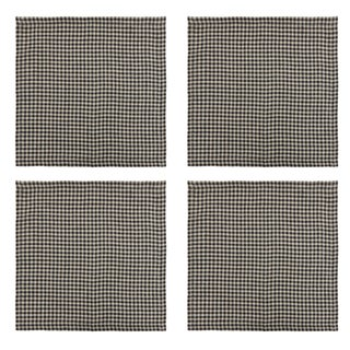 Once Milano Linen Napkins in Checks - Set of 4 For Sale