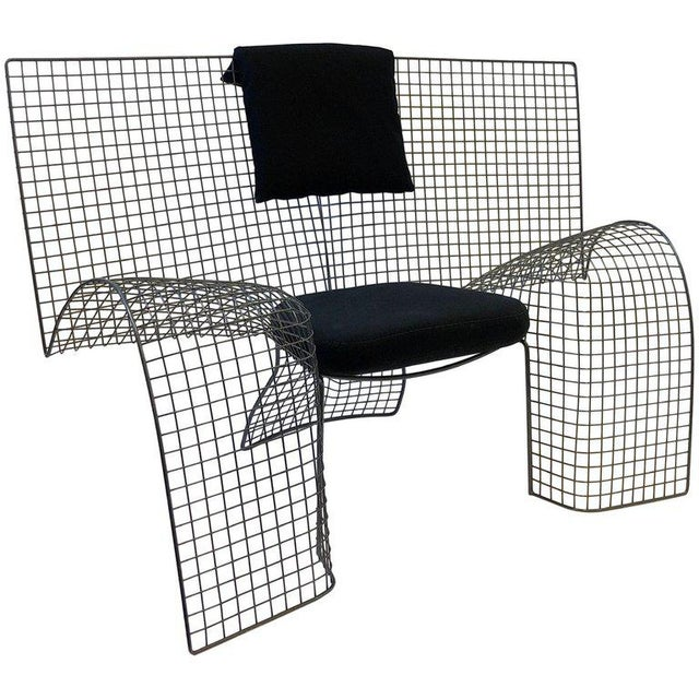 Memphis Steel Mesh Chair by D'Urbino Lomazzi for Zerodesigno For Sale - Image 11 of 11