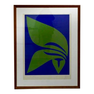 1970 Abstract Screenprint by Jack Youngerman For Sale