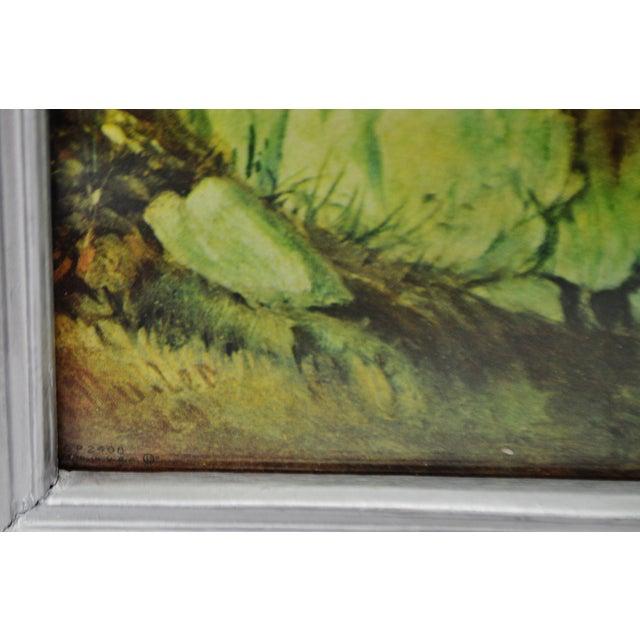 Vintage Framed Landscape Print by Muller For Sale - Image 9 of 12
