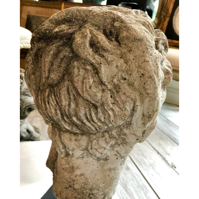 1930s Greek Mid-Century Head of the God Hermes Sculpture For Sale - Image 11 of 13