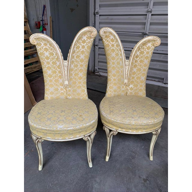 Mid-Century Hollywood Regency Asymmetrical Chairs- A Pair For Sale - Image 13 of 13