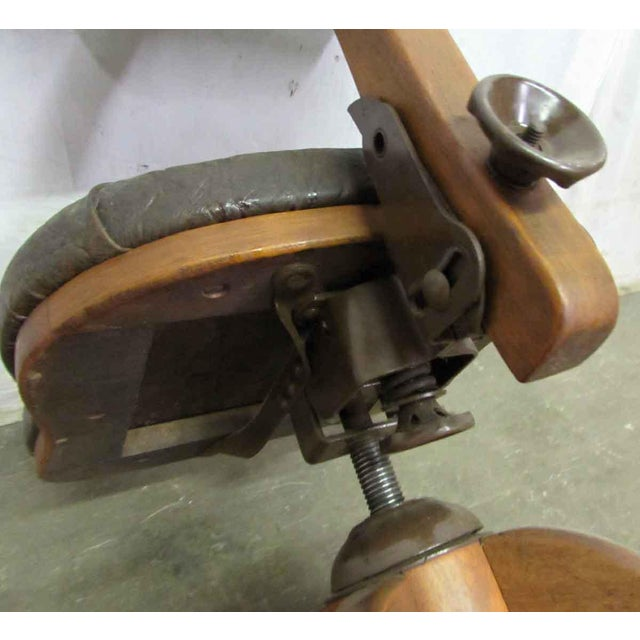 Wooden Adjustable Desk Chair - Image 10 of 11