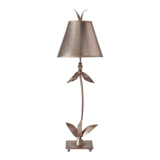 Red Bell Silver Buffet Table Lamp For Sale