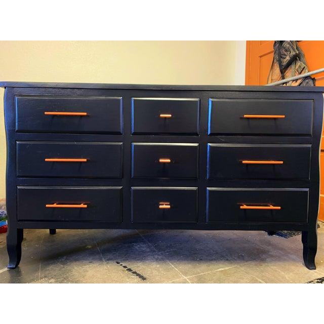 1960s Drexel Black Dresser For Sale - Image 5 of 5