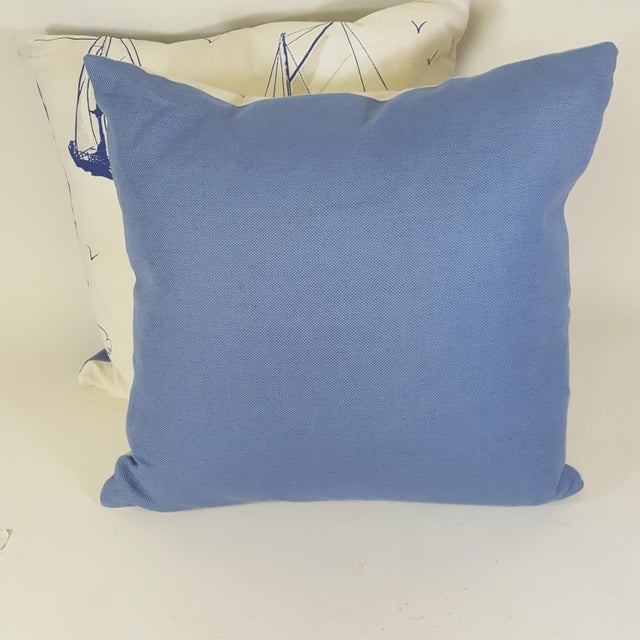 This pair of sailboat pillows were made in Wales, U.K., by a small cottage designer/manufacturer owned by a lovely couple....