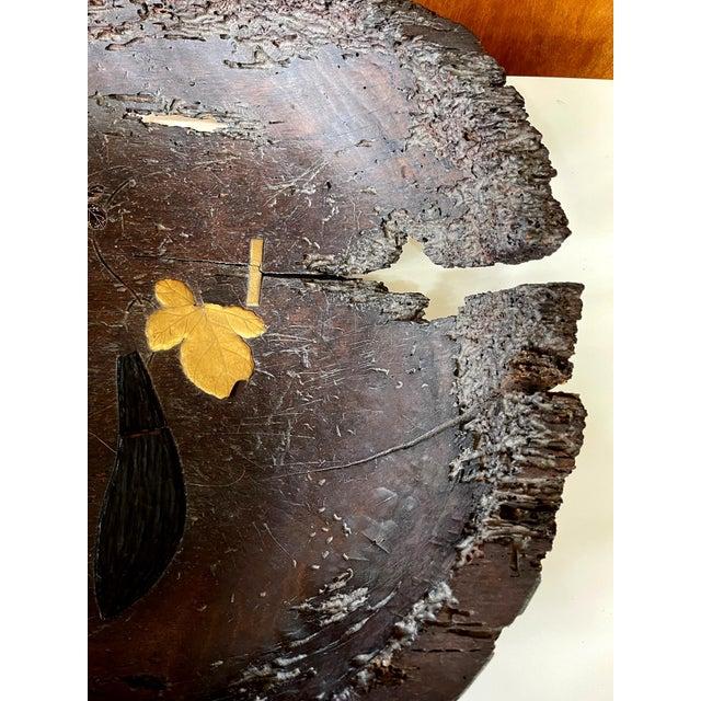 Japonisme Antique Japanese Lacquered Wood Wabi-Sabi Bowl For Sale - Image 3 of 13