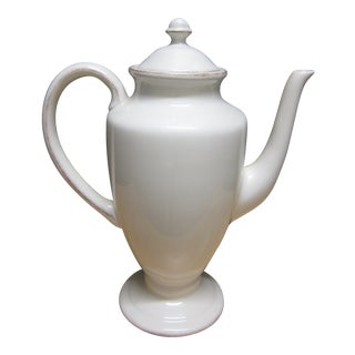 Pottery Barn Rustic Blanca Off White Teapot For Sale