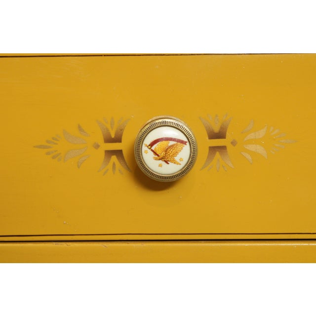 Hitchcock Vintage Yellow Painted Tall Chest of Drawers For Sale - Image 12 of 13