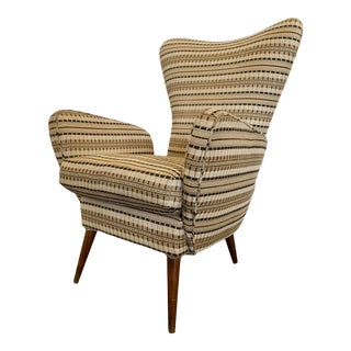 Mid Century Modern Wingback Lounge Chair For Sale