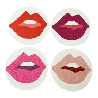 Kiss Me II by Angela Blehm Coasters - Set of 4 For Sale