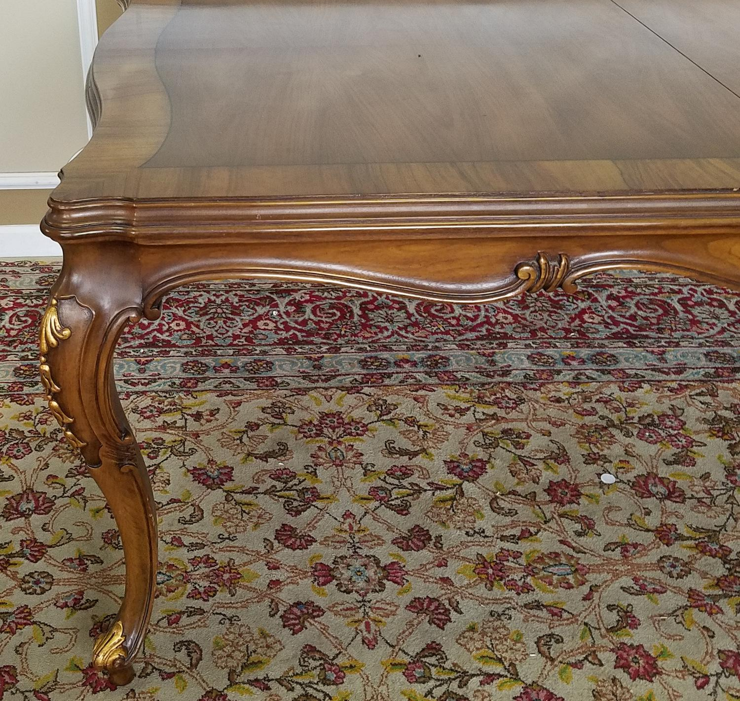 country dining room furniture. 1960s Karges Furniture Walnut French Country Dining Room Table - Image 3 Of 11 O