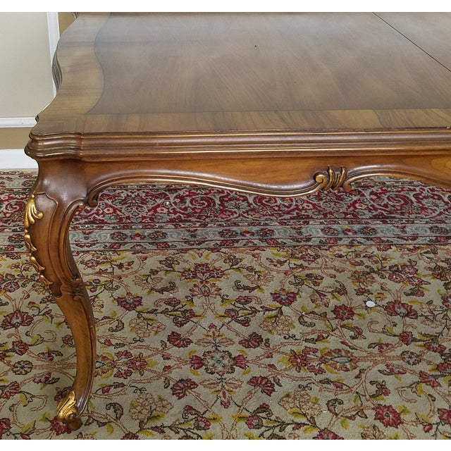 1960s Karges Furniture Walnut French Country Dining Room Table ...