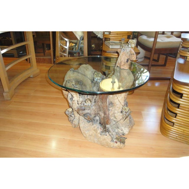 Unique Torch-Cut / Driftwood End Table - Image 8 of 8