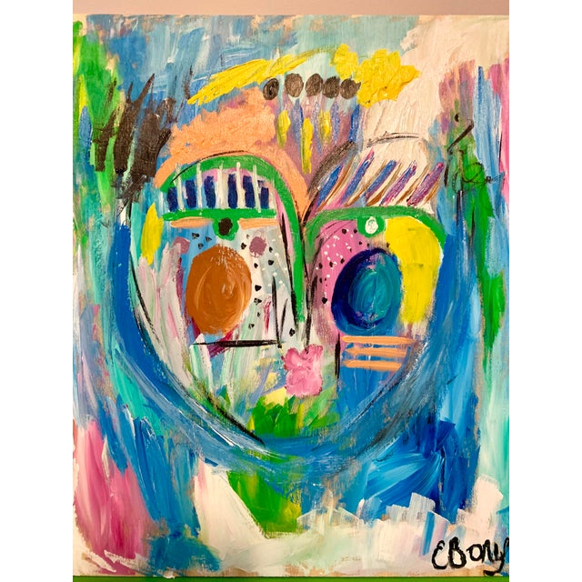 Abstract Ebony Boyd Abstract Face Painting For Sale - Image 3 of 4