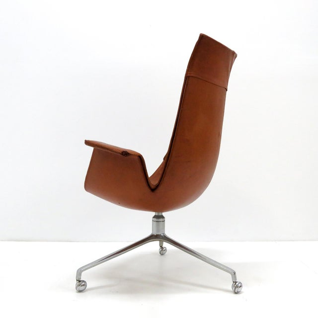 "Preben Fabricius and Jorgen Kastholm early production high back ""Bird"" chair, FK 6725 for Kill International, in..."