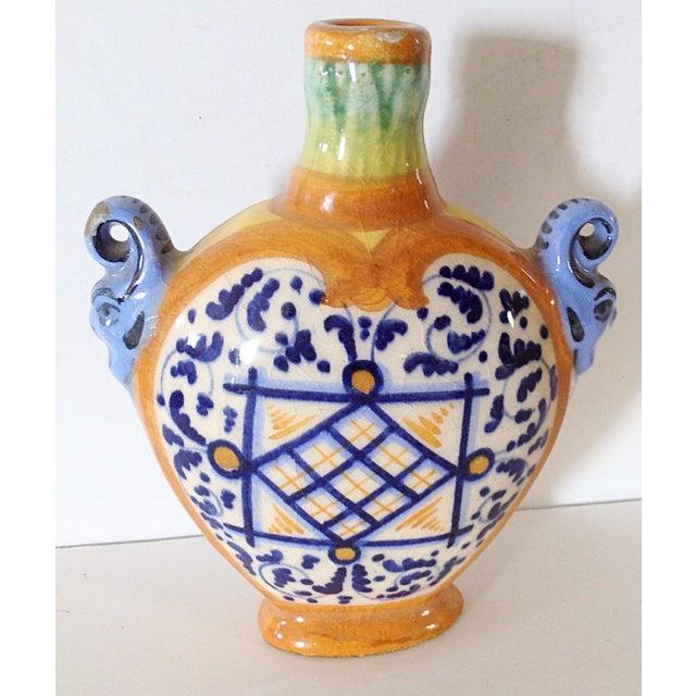 Italian Blue and Orange Italian Bottle For Sale - Image 3 of 4