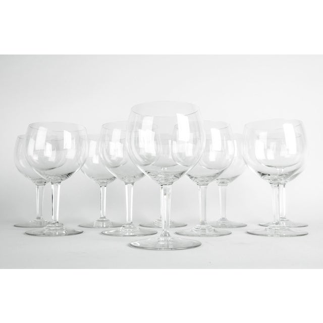 Art Deco Mid-20th Century Baccarat Crystal Drinks Glassware - Set of 10 For Sale - Image 3 of 7
