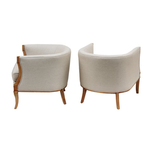 Hollywood Regency Barrel Back Chairs - A Pair - Image 2 of 10