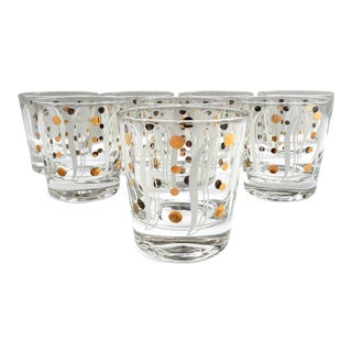 Mid-Century Modern Art Deco Lowball Glasses-Set of 8 For Sale
