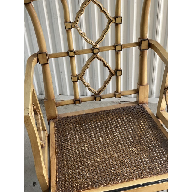 Mid 20th Century Vintage Bamboo Fretwork Armchair For Sale - Image 5 of 11