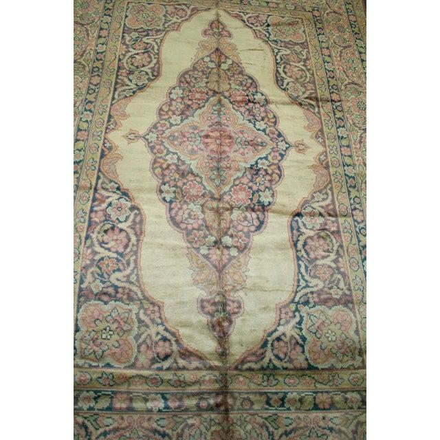 1930s 1930s Vintage Tabriz Haji Jalili Design Rug - 6′7″ × 7′5″ For Sale - Image 5 of 6