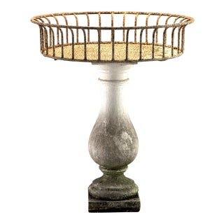 Industrial Metal and Stone Planter For Sale
