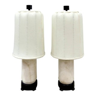 Austrian Art Deco Table Marble Lamps - A Pair