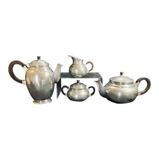 Vintage Mid Century Brodrene Mylius Pewter Coffee/ Tea Set - Set of 4 For Sale