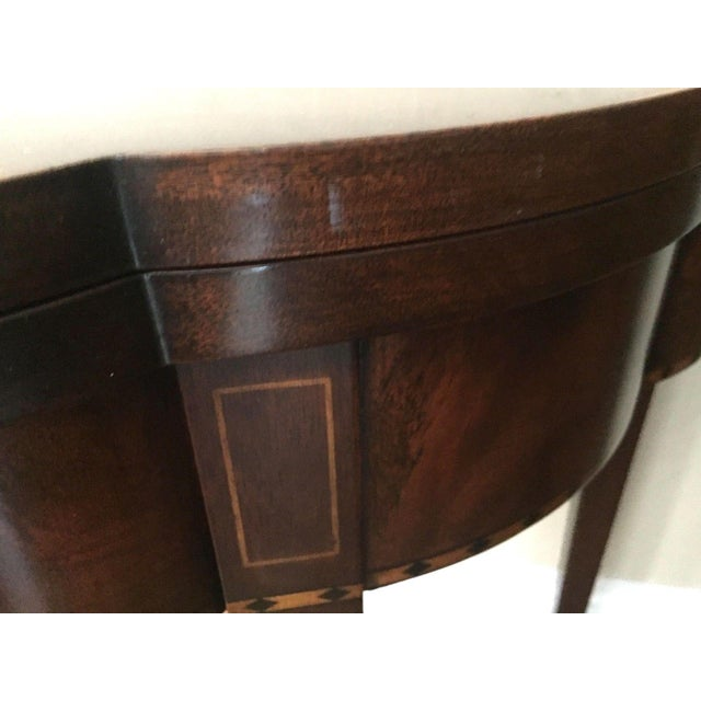 English Traditional 2000s Myers Mahogany Card Table by Henkel Harris #5701 For Sale - Image 3 of 6