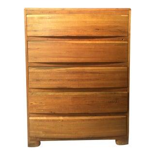 1930s Rustic Oak Highboy Tall Dresser For Sale