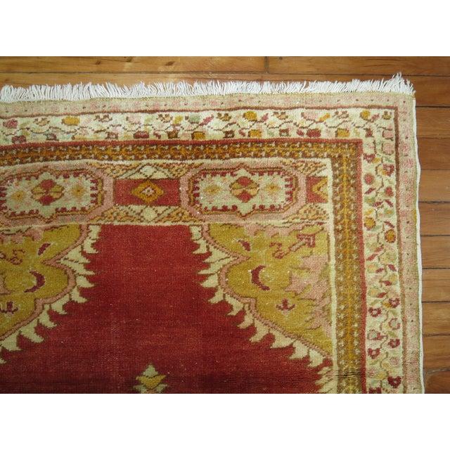 Traditional Vintage Turkish Oushak Rug - 3'1'' x 5' For Sale - Image 3 of 4