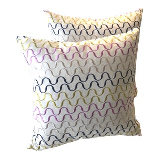 Mid-Century Modern Style Pillows - a Pair For Sale