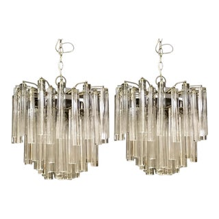 Venini Crystal Chandeliers - A Pair