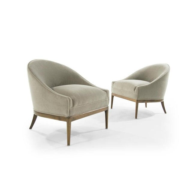 Mid-Century Modern Lounge Chairs in Mohair, 1950s For Sale In New York - Image 6 of 13