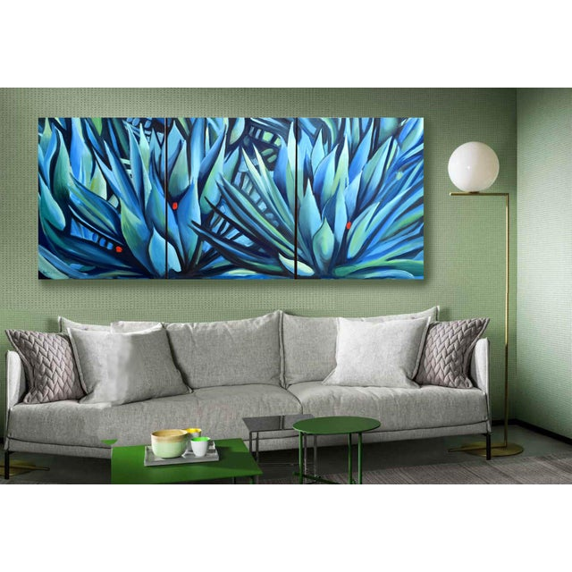 'Song of Dark Leaves' Oil Painting (Featured) For Sale - Image 4 of 9