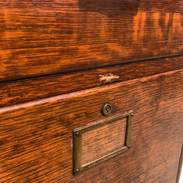 Antique Mission Oak 4 Drawer Office Library File Cabinet For Sale - Image 6 of 8