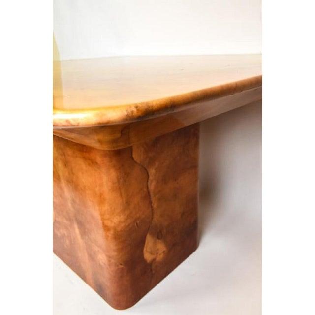Karl Springer Faux Goatskin Dining Table by Karl Springer. For Sale - Image 4 of 8
