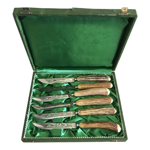 Anton Wingen Solingen Germany Rostfrei Steak Knives - Set of 6 For Sale
