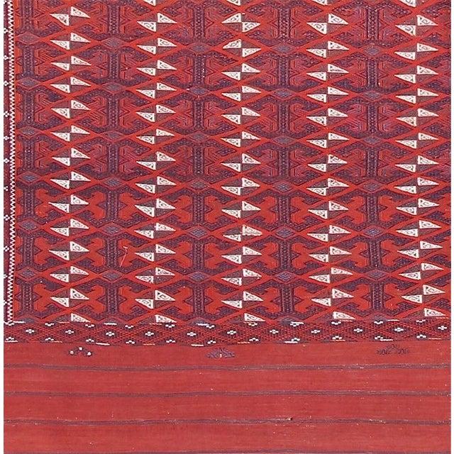 Islamic Turkmen Flat-Woven Main Carpet For Sale - Image 3 of 4