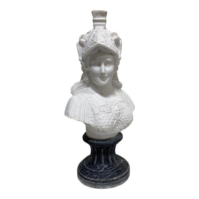 Greek Goddess Athena Marble Bust For Sale