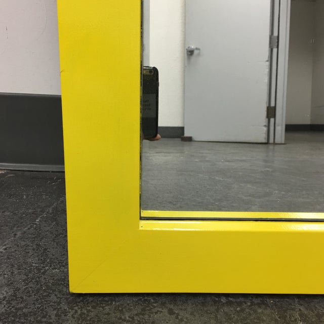 Yellow Floor Mirror - Image 7 of 7