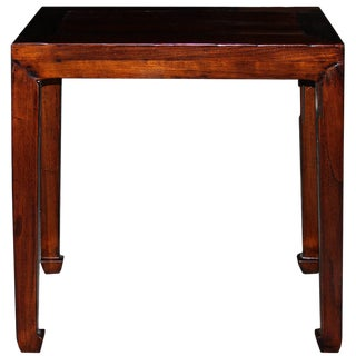 1920s Ming-Style Elm Console Table For Sale