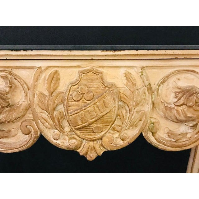 Finely Carved White and Parcel-Gilt Decorated Vanity / Desk by Jansen For Sale - Image 4 of 13