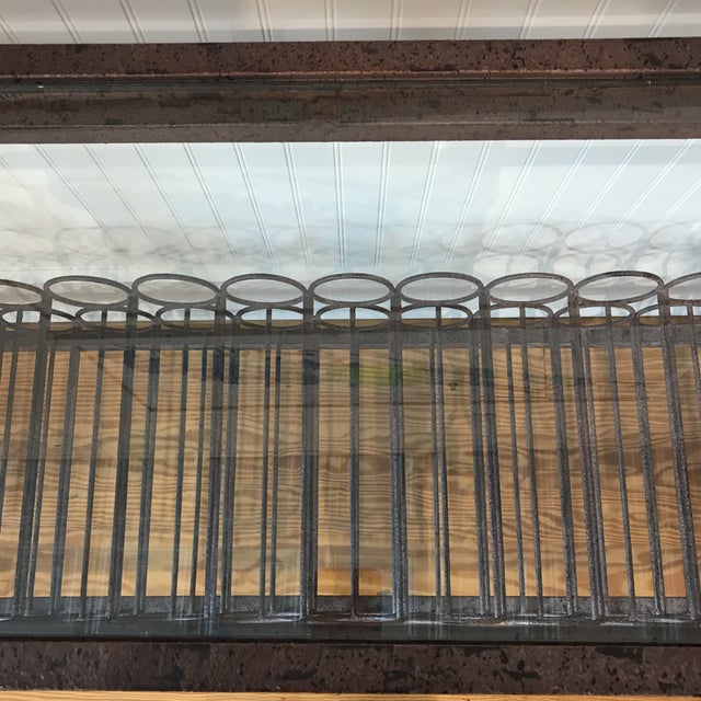 Wrought Iron Wine Rack Console Table For Sale - Image 9 of 13