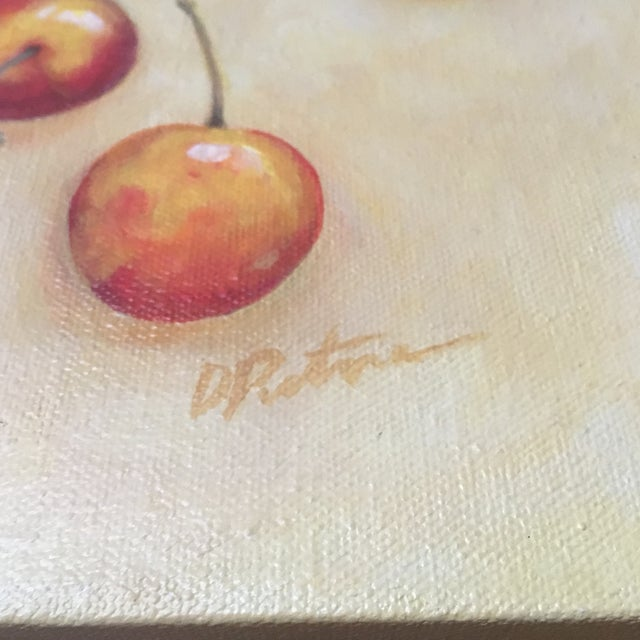 Signed Cherry Painting - Image 3 of 5