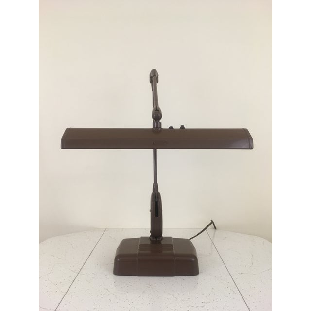 20th Century Industrial Dazor Floating Flourescent Desk Lamp For Sale - Image 9 of 12