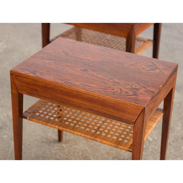 Brown Mid-Century Modern Rosewood Tables by Severin Hansen - a Pair For Sale - Image 8 of 10