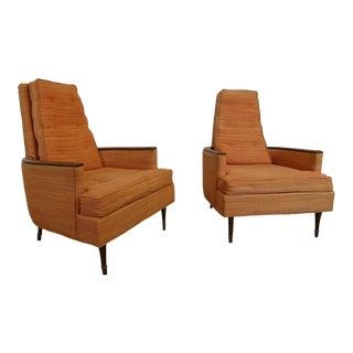 Mid-Century Modern Pair of Karpen Club Chairs- A Pair For Sale